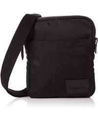 ed4a78e2644f28 Tommy Hilfiger Th Diagonal Mini Reporter Bag in Black for Men - Lyst