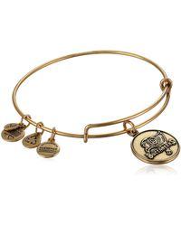 "ALEX AND ANI - ""nfl"" Tampa Bay Buccaneer Logo Expandable Wire Rafaelian Gold Bangle Bracelet - Lyst"
