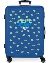 Pepe Jeans Juego de Maletas Overlap rígidas 55-68cm - Azul