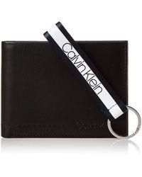 Calvin Klein Geldbörse Leder 13 cm - Schwarz