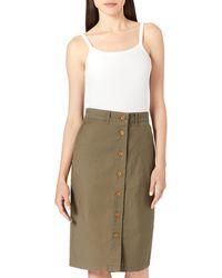 GANT D2. Sunfaded Reg Chino Skirt - Green