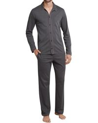 Schiesser Pyjama lang 159428 - Braun