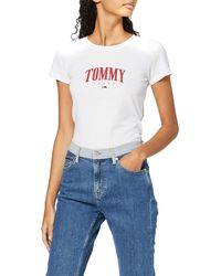 Tommy Hilfiger Tjw Tommy Script Tee T-shirt - White