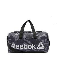 Reebok - Core Graphic Medium Grip Sports Bag Grey Green Os - Lyst