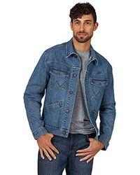 Wrangler Retro Unlined Stretch Denim Jacket - Blue