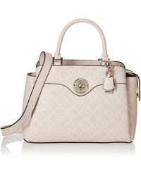 Guess Dayane Triple Compartment Satchel - Pink