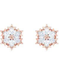 Swarovski Plaqué or Boutons d'oreilles - 5428429 - Blanc
