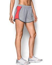 Under Armour Fly by Short - Pantalón Corto Mujer - Gris