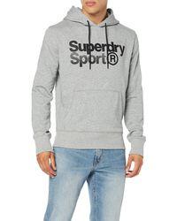 Superdry Core Sport Overhead Sweat-Shirt À Capuche - Gris