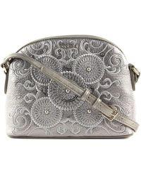 Desigual Majestic Deia Across Body Bag Silver - Métallisé