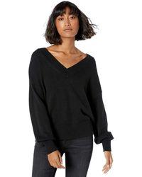 The Drop - Lisa, morbido maglione ampio con largo scollo a V da Donna, Nero, XXL - Lyst