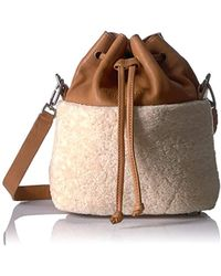Liebeskind Berlin - Missisippi Shearling And Lambskin Bucket Bag - Lyst