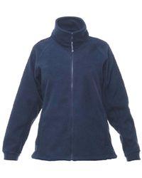 Regatta Ladies Professional Thor Iii Fleece Full Zip Jacket Coat Workwear Dark Navy - Blue