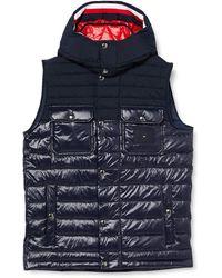Tommy Hilfiger Stretch Quilted Hooded Vest Jacket - Bleu