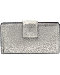 Fossil RFID Tab Wallet Logan Silver - Metallizzato