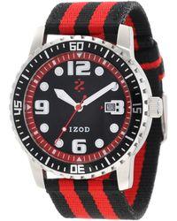 Izod Ritmo Mundo Izs3/9 Red Sport Quartz 3 Hand Watch