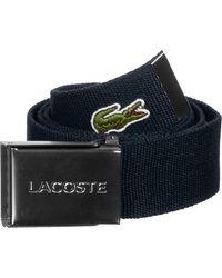 Lacoste 40 Woven Strap In Kit ceinture navy blue - Bleu