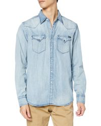 Replay - M4023 .000.26c 616 Camicia in Jeans - Lyst