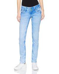 Pepe Jeans Vera Jeans Uomo Slim Fit Donna - Blu