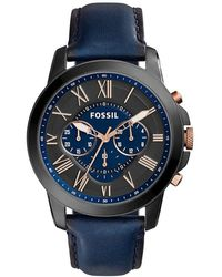 Fossil Uhr Grant - Blau