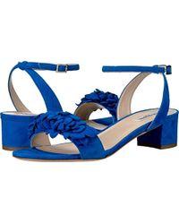 L.K.Bennett - Coralie Blue Suede Formal Sandals - Lyst