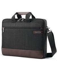 Samsonite Kombi Slim Briefcase - Black