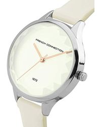French Connection S Analogue Classic Quartz Watch With Pu Strap Sfc122w - White