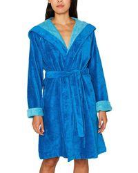 Esprit Peignoir en velours - Bleu