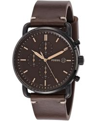 Fossil - Analogue Quartz Watch With Leather Strap Fs5403 - Lyst