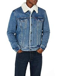 Levi's Type 3 Sherpa Trucker Jeans Uomo - Blu