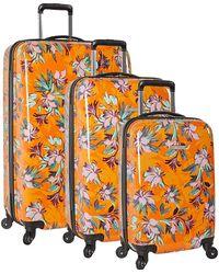 Nine West Ninewest 3 Piece Hardside Spinner Luggage Suitcase Set - Orange