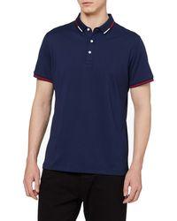 HIKARO Amazon Brand Business Polo Purplish Blue XXL - Bleu