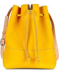 Ecco Jilin Tandem Drawstring Bag - Yellow