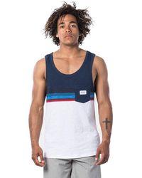 Rip Curl Rapture Tank Uomo,Canotta,Muscle Shirt,Top,Camicia,Senza iche,Collo Rotondo,Tasca sul Petto,Casual,Navy,2XL - Blu