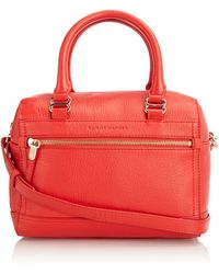 Tommy Hilfiger S Ellery Small Duffle Bowling Bag Bw56923147 Tango Red-pt
