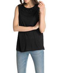 Esprit Collection 045EO1K022 Top - Negro