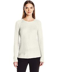 Jones New York - Pullover Chain Knit Sweater - Lyst