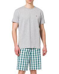Tommy Hilfiger Cn SS Short Woven Set Print Juego de Pijama - Multicolor