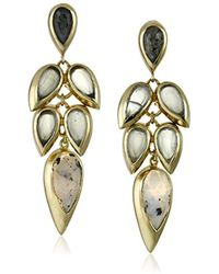 "Cole Haan - ""twilight"" Drama Stone Cluster Teardrop Earrings - Lyst"