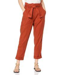 FIND Pantalon à Nouer à la Taille - Rouge