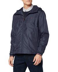 Tommy Hilfiger Light Weight Hooded Jacket Veste Bomber - Bleu