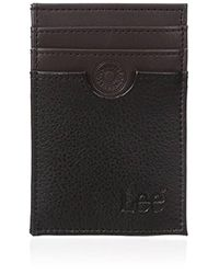 Lee Jeans - Pebble Textured Leather Rfid Blocking Front Pocket Wallet - Lyst