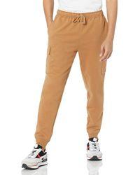 Amazon Essentials Cargo Fleece Jogger Sweatpant Pantalon de survêtement - Marron