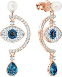 Swarovski Acier Boucles d'oreilles pendantes 5425860 - Bleu