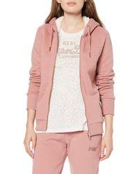 Superdry Applique Zip Hoodie - Pink