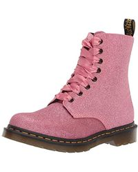 Dr. Martens 1460 Pascal Glitter Ankle Boots - Pink