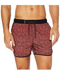 Superdry Echo Racer Swim Short Pantalones Cortos para Hombre - Rojo