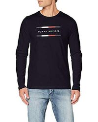 Tommy Hilfiger Corp Long SLV Tee Sporttop - Blau