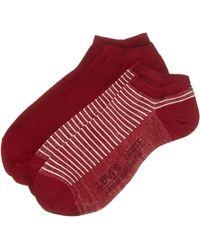 Levi's LEVIS 168SF LOW CUT STRIPE 2P Socquettes - Rouge