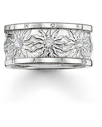 Thomas Sabo Ring 925 Silber Zirkonia weiß Gr. 54 - Mettallic